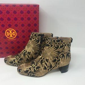 Tory Burch Carlotta Brocade Embroidered Booties